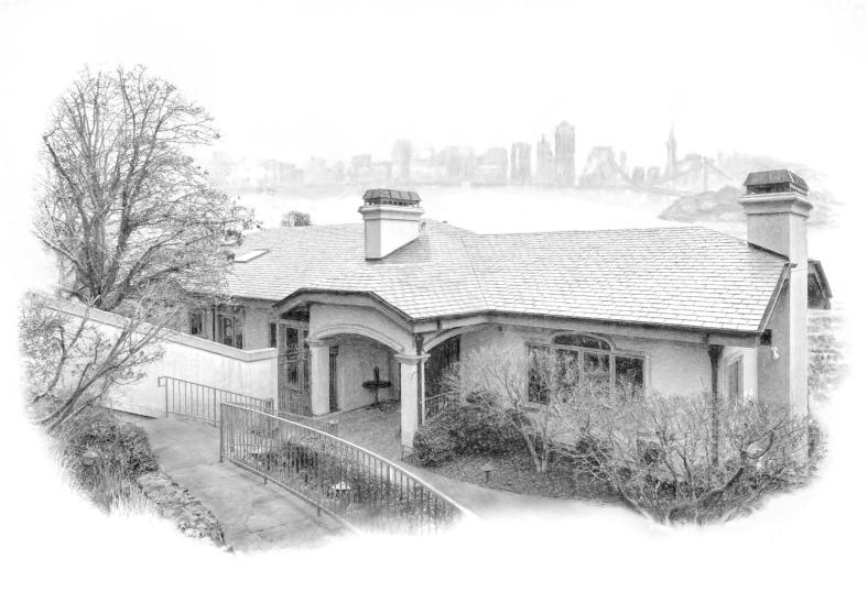 Digital Charcoal Real Estate Portrait.  Listed 2/20/14.  Agent: Doug Fuller.